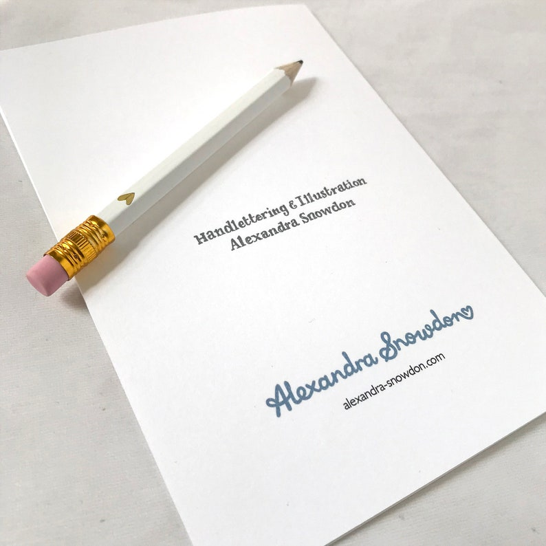 Alexandra Snowdon Friendship Card