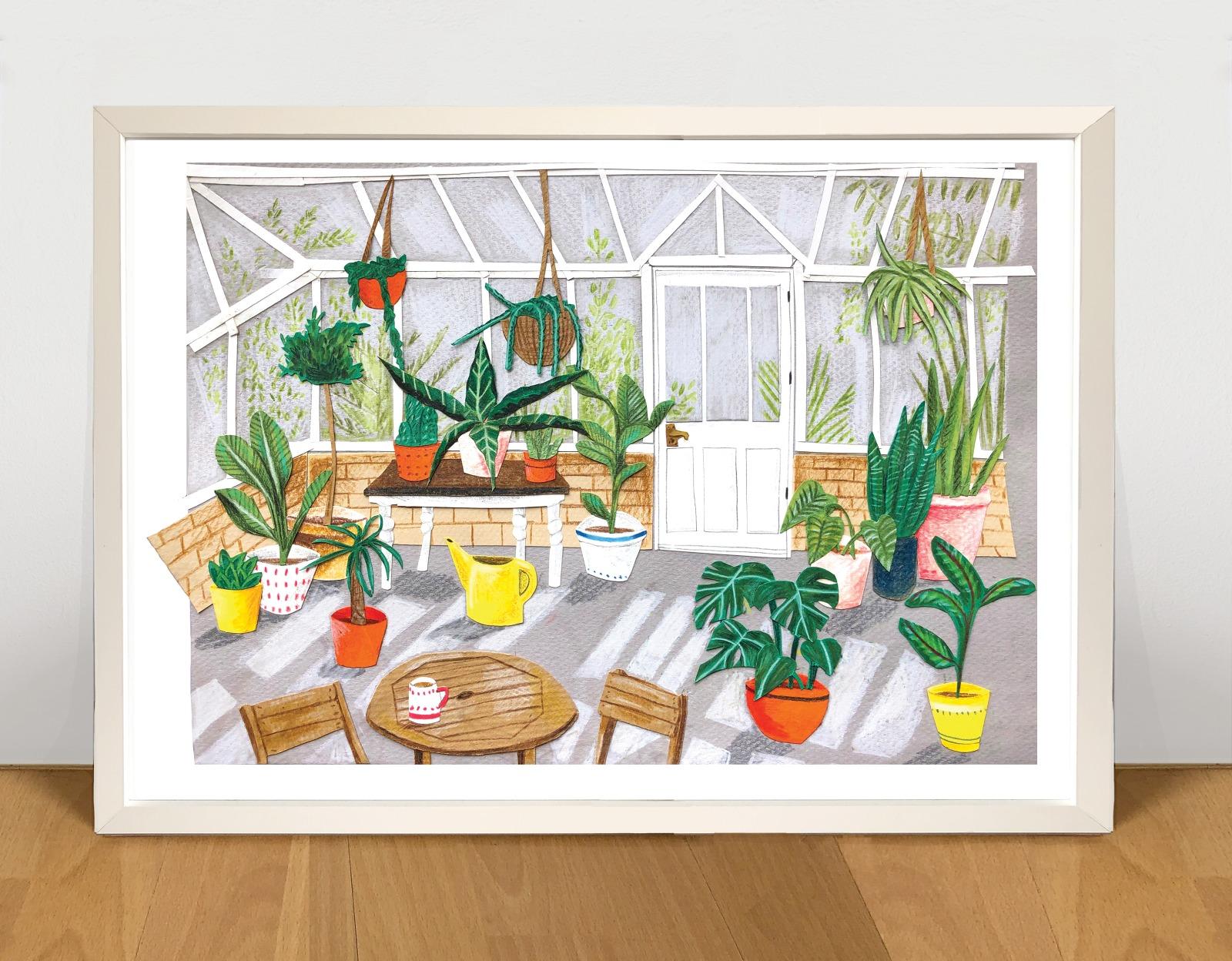 Kaitlin Mechan A4 Greenhouse Print