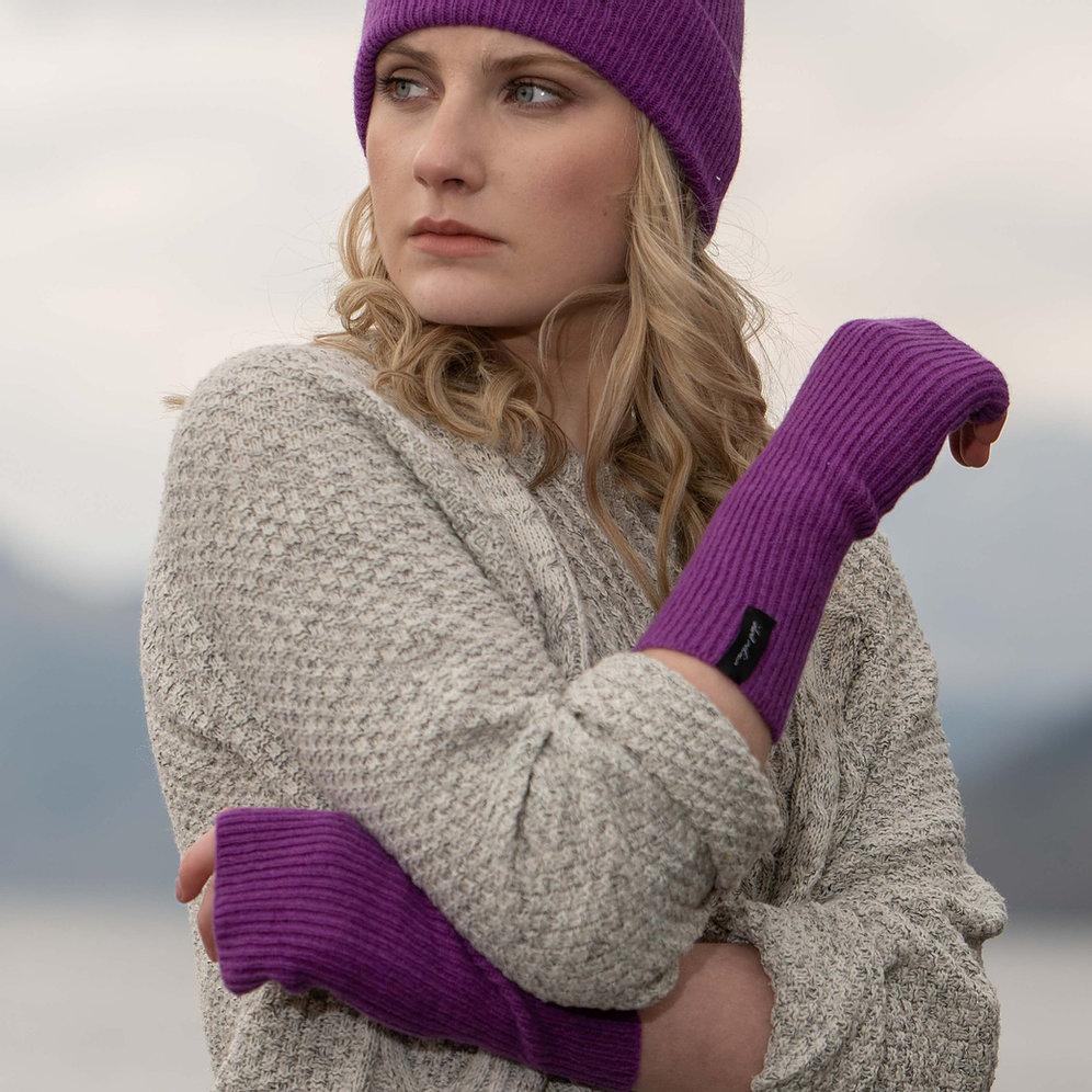 Island Nation Studio Ribbed Wrist Warmer - Purple