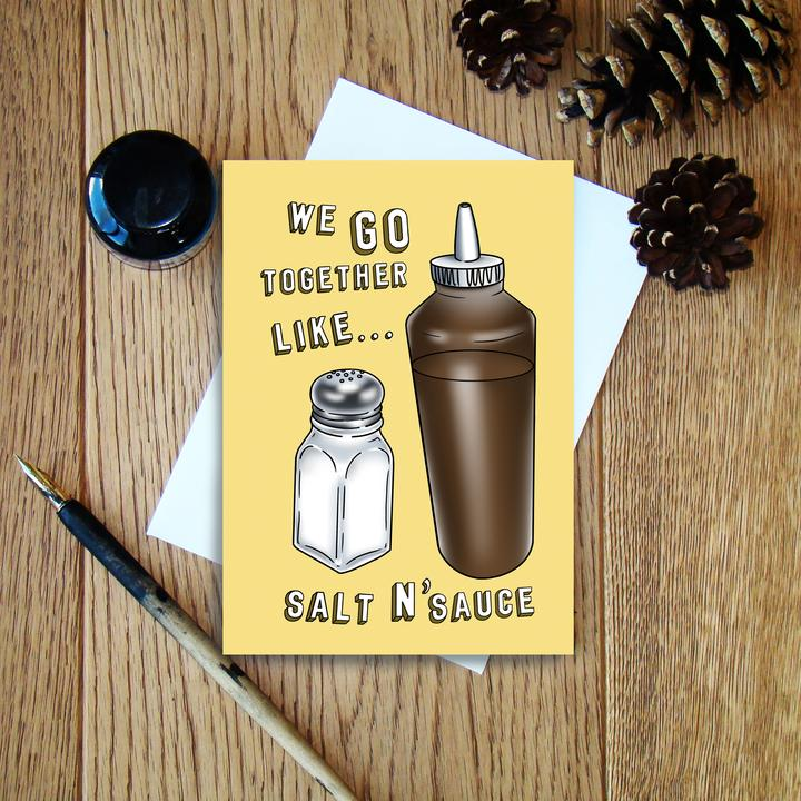 Cheryl Jones Designs Salt N'Sauce Greeting Card
