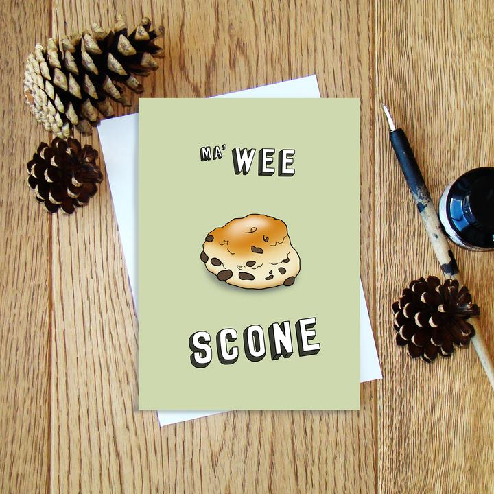 Cheryl Jones Designs Ma' Wee Scone Greeting Card
