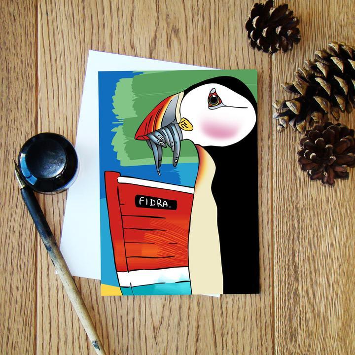 Cheryl Jones Designs Puffin Greeting Card