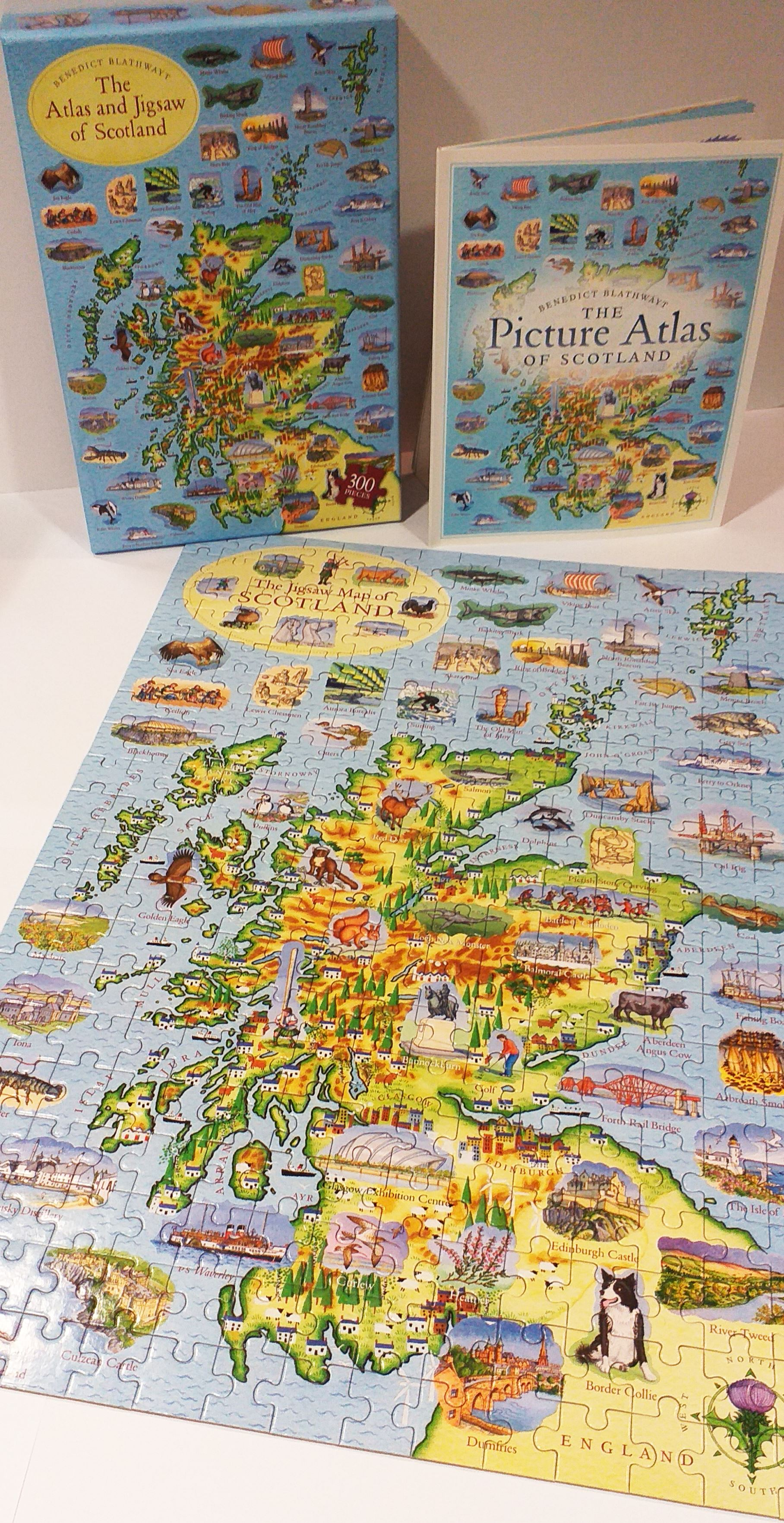 Atlas and Jigsaw Of Scotland (Book and Puzzle)