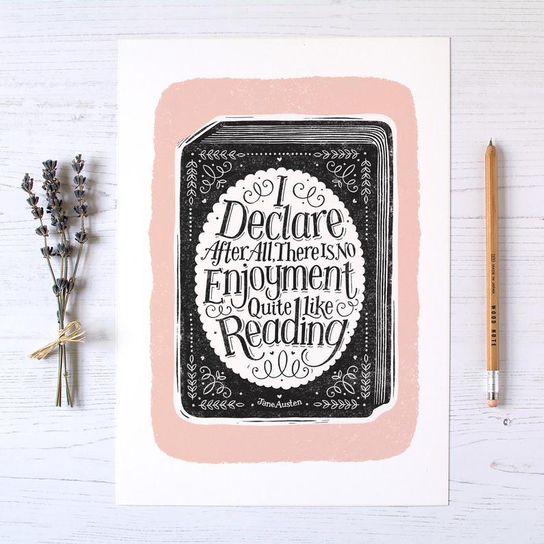 Alexandra Snowdon Jane Austen Book Print