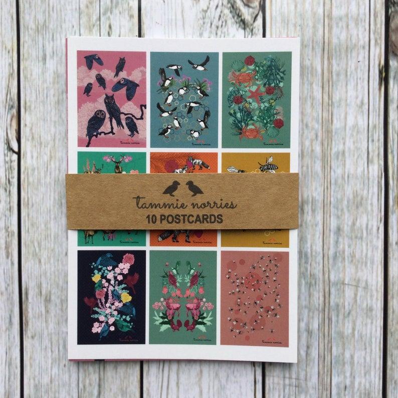 Tammie Norries Set of 10 Postcards (A6)