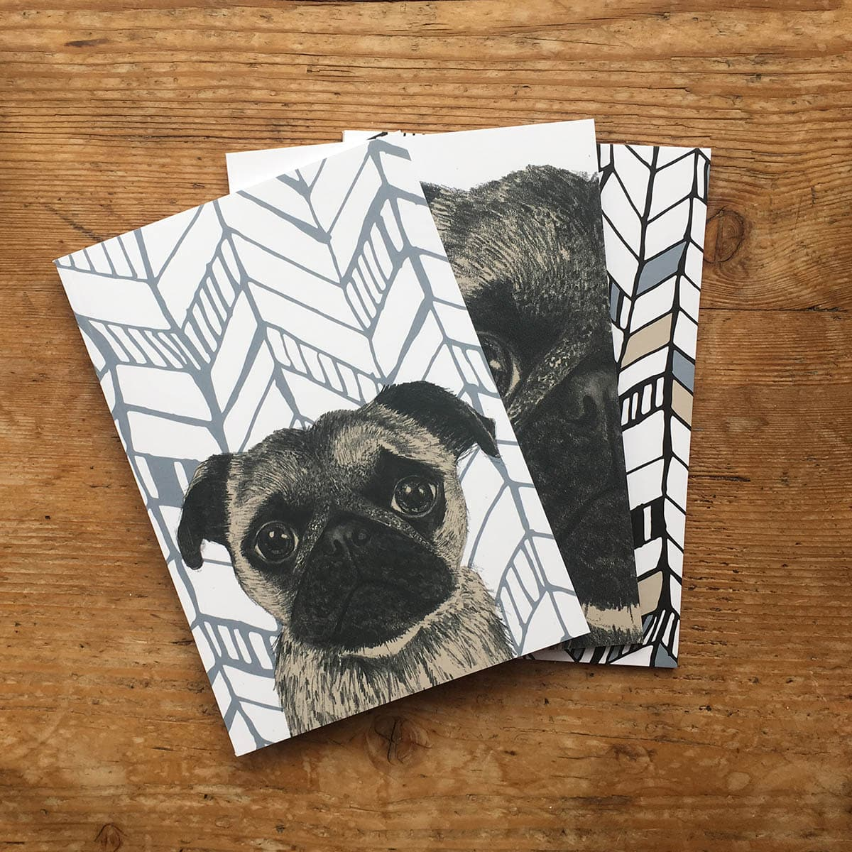 Cherith Harrison Set of 3 A5 Pug Notepads