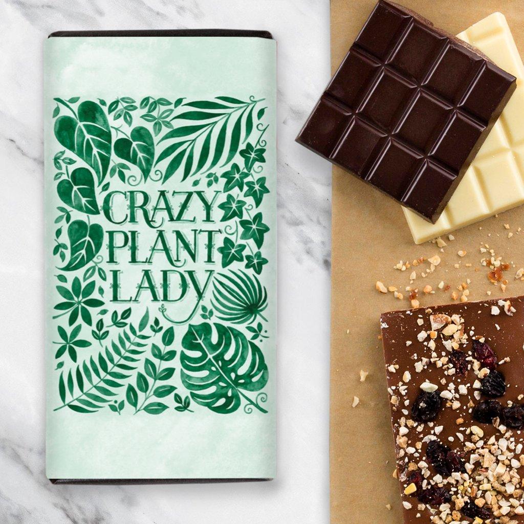 Quirky Chocolate Crazy Plant Lady - Raspberry Dark Chocolate Bar