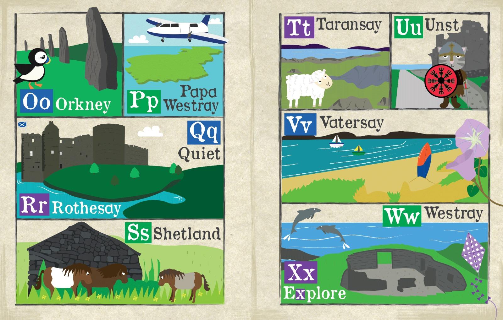 Nursery Times Crinkly Newspaper - A-Z of Scottish Islands
