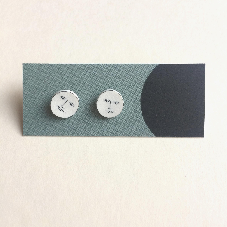 Nicola Boon Man on the Moon Stud Earrings