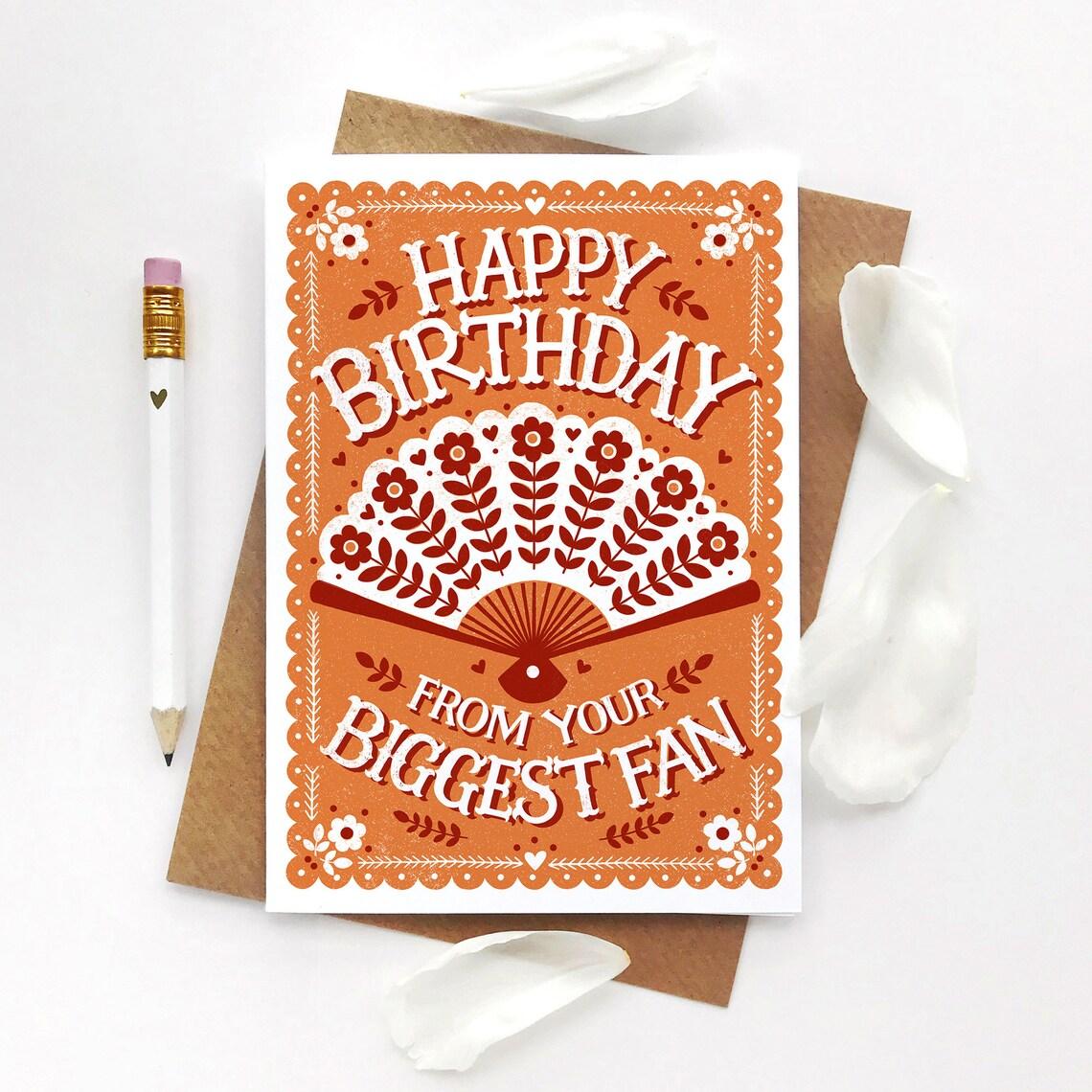 Alexandra Snowdon Biggest Fan Birthday Card