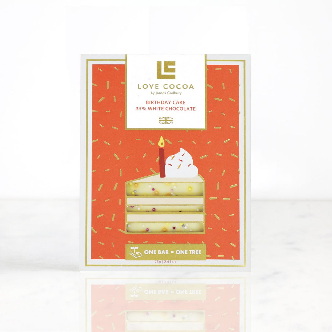 Love Cocoa - Birthday Cake - 35% White Chocolate