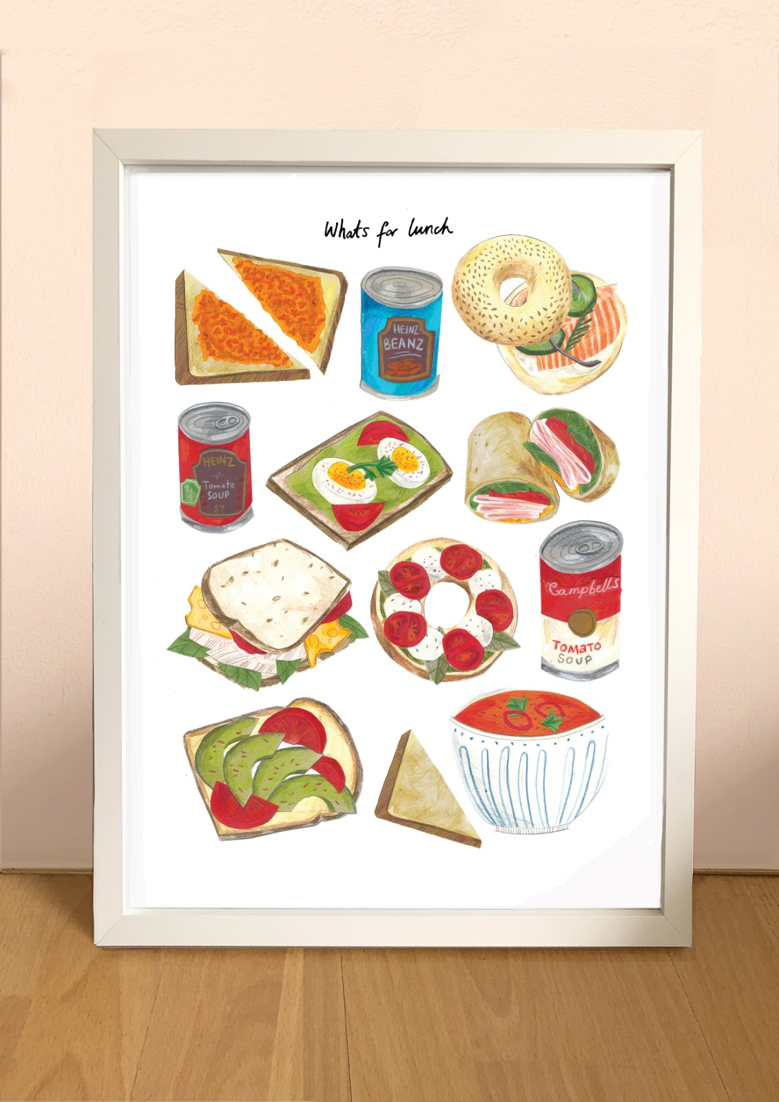 Kaitlin Mechan A4 What's for Lunch Print