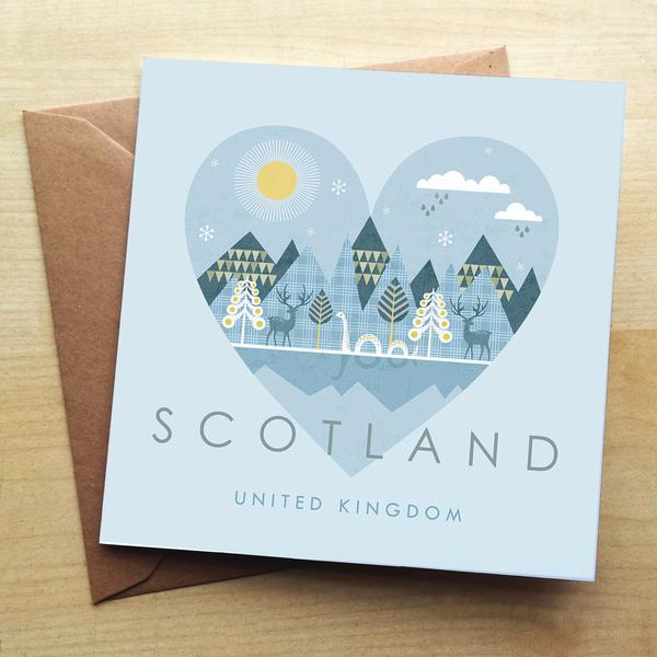 Wraptious Greeting Card - Scotland