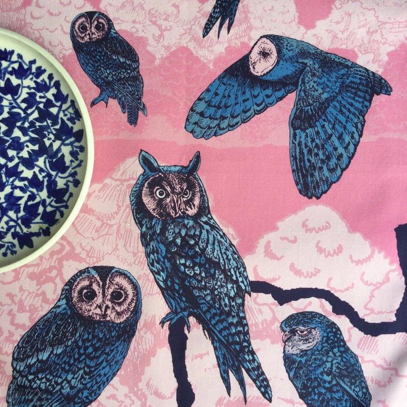 Tammie Norries A parliament of Owls Tea Towel