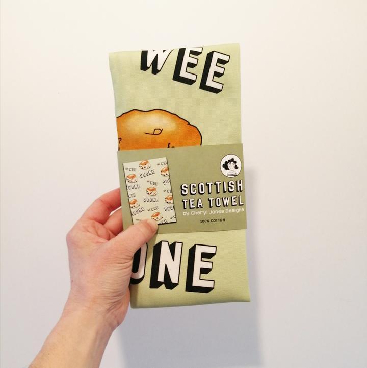 Cheryl Jones Designs Ma' Wee Scone Tea Towel