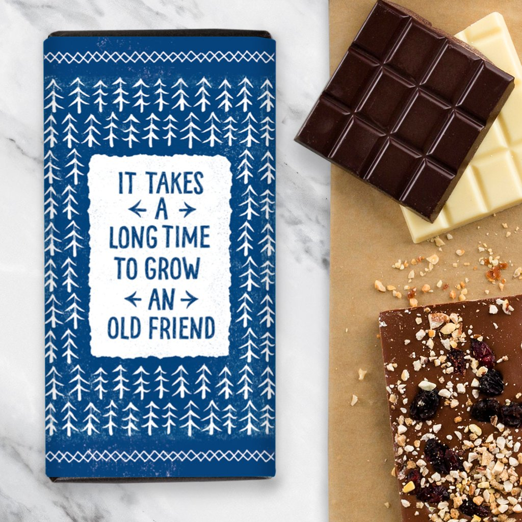 Quirky Chocolate Old Friend - Salted Caramel Chocolate Bar