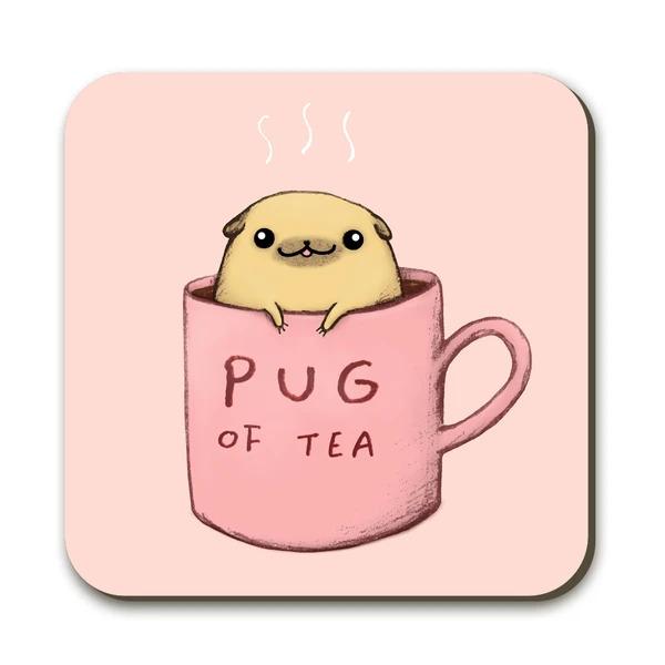 Wraptious Coaster - Pug of Tea