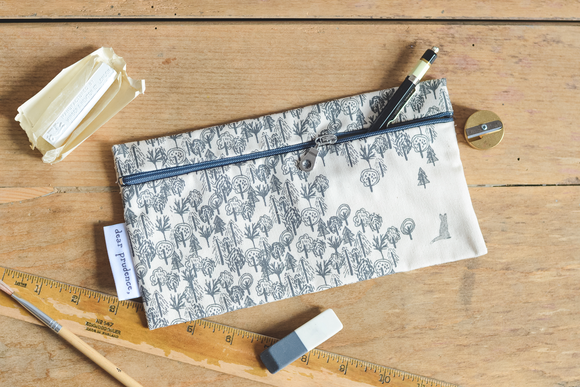 """Dear Prudence """"In the Woods"""" Pencil Case"""