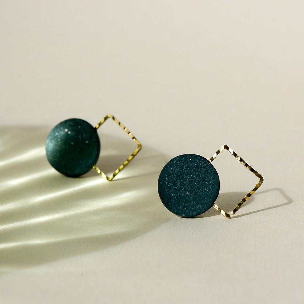 Lia b Aura Green Earrings