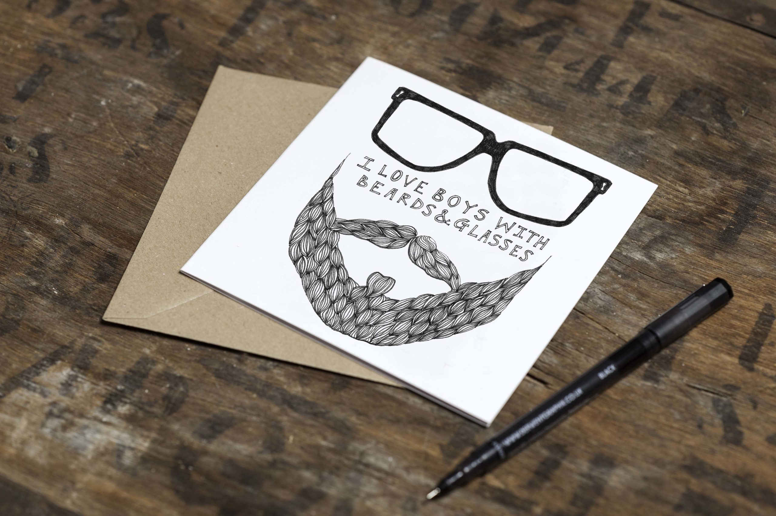 Must Dash Illustrations Boys with Glasses Card