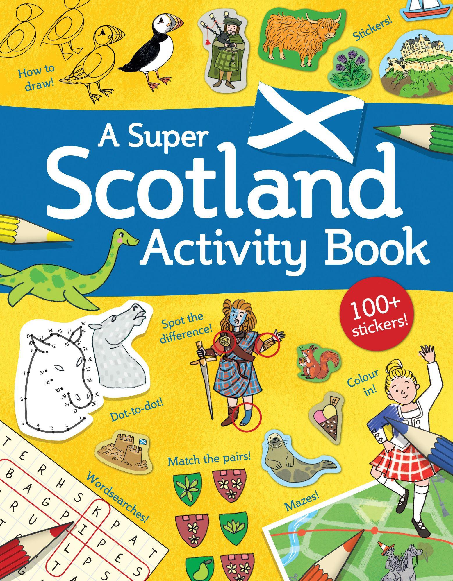 Super Scotland Activity Book (Children's Sticker Book)