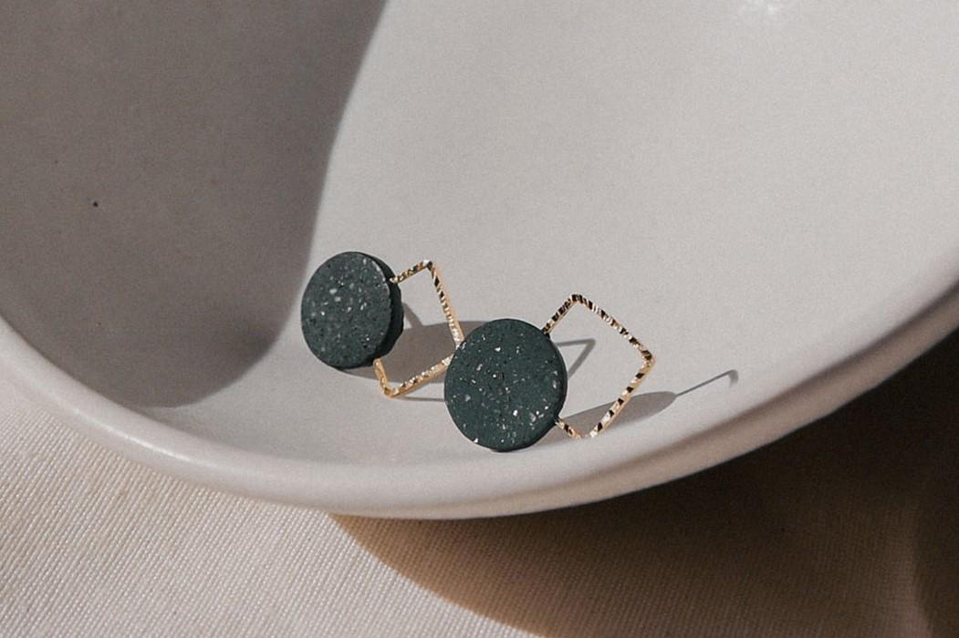 Lia b Aura Black Earrings