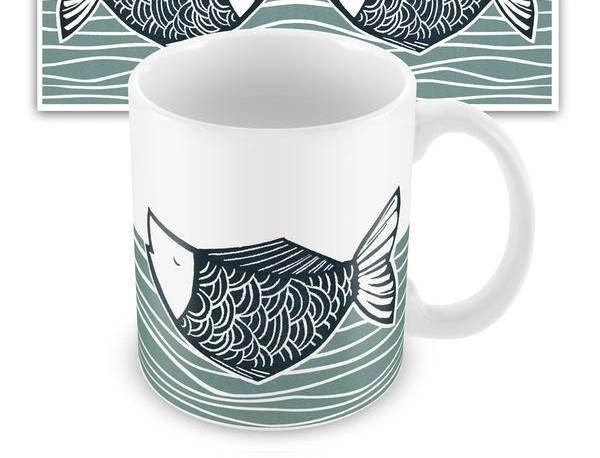 Wraptious Ceramic Mug - Catch of the Day