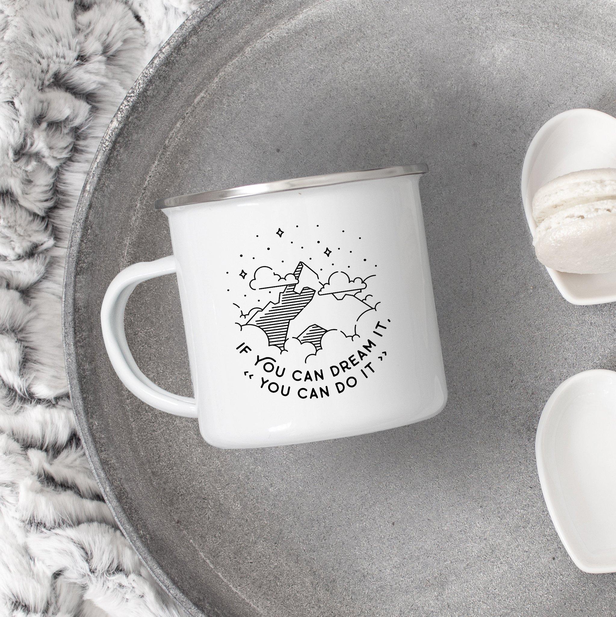 Sovende Bjorn Enamel Mug - If you can dream