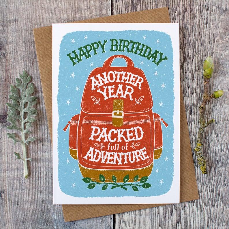 Alexandra Snowdon Backpackers Birthday Card