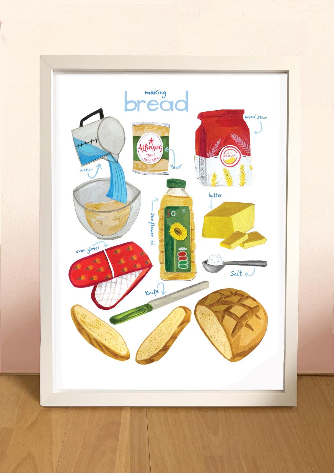 Kaitlin Mechan A4 Making Bread Print