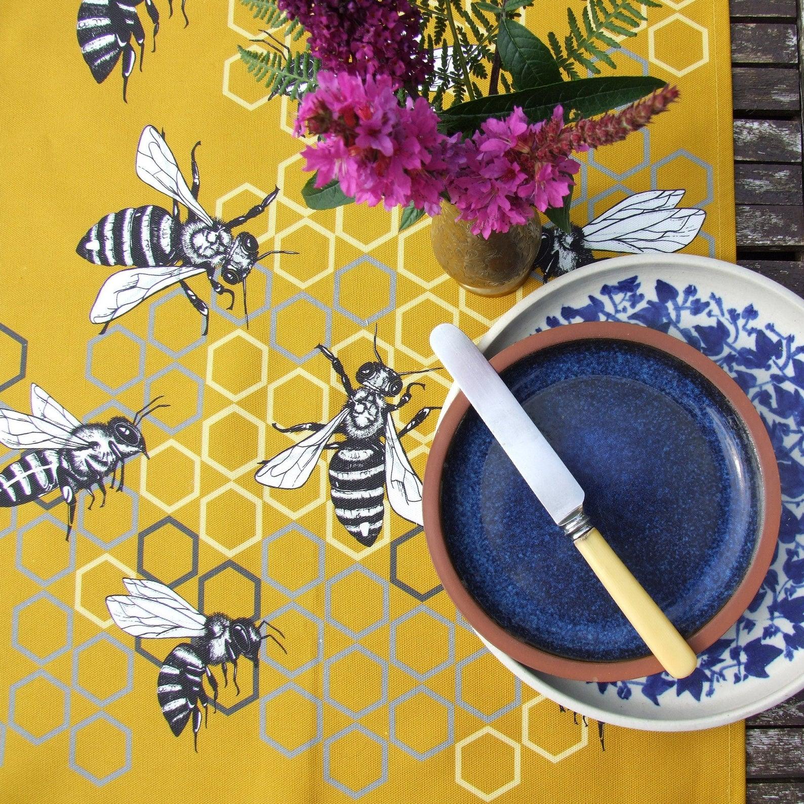 Tammie Norries A Rabble of Bees Tea Towel