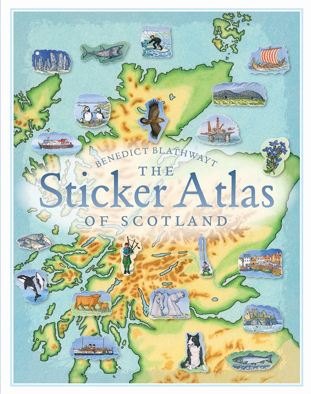 Sticker Atlas Of Scotland (Children's Sticker Book)