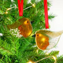 Glass Wee Robin Decoration