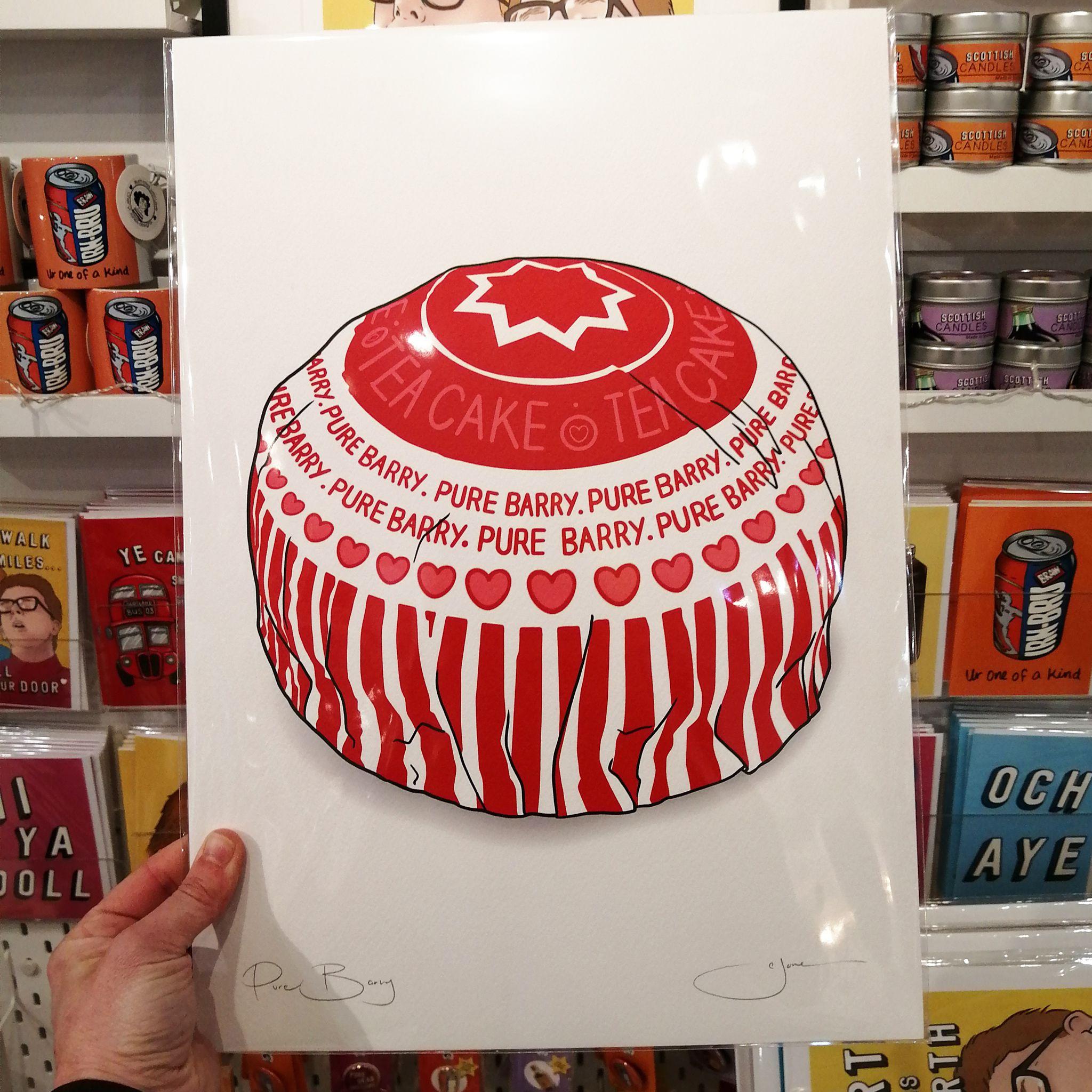 Cheryl Jones Designs Pure Barry, Teacake A3 signed print