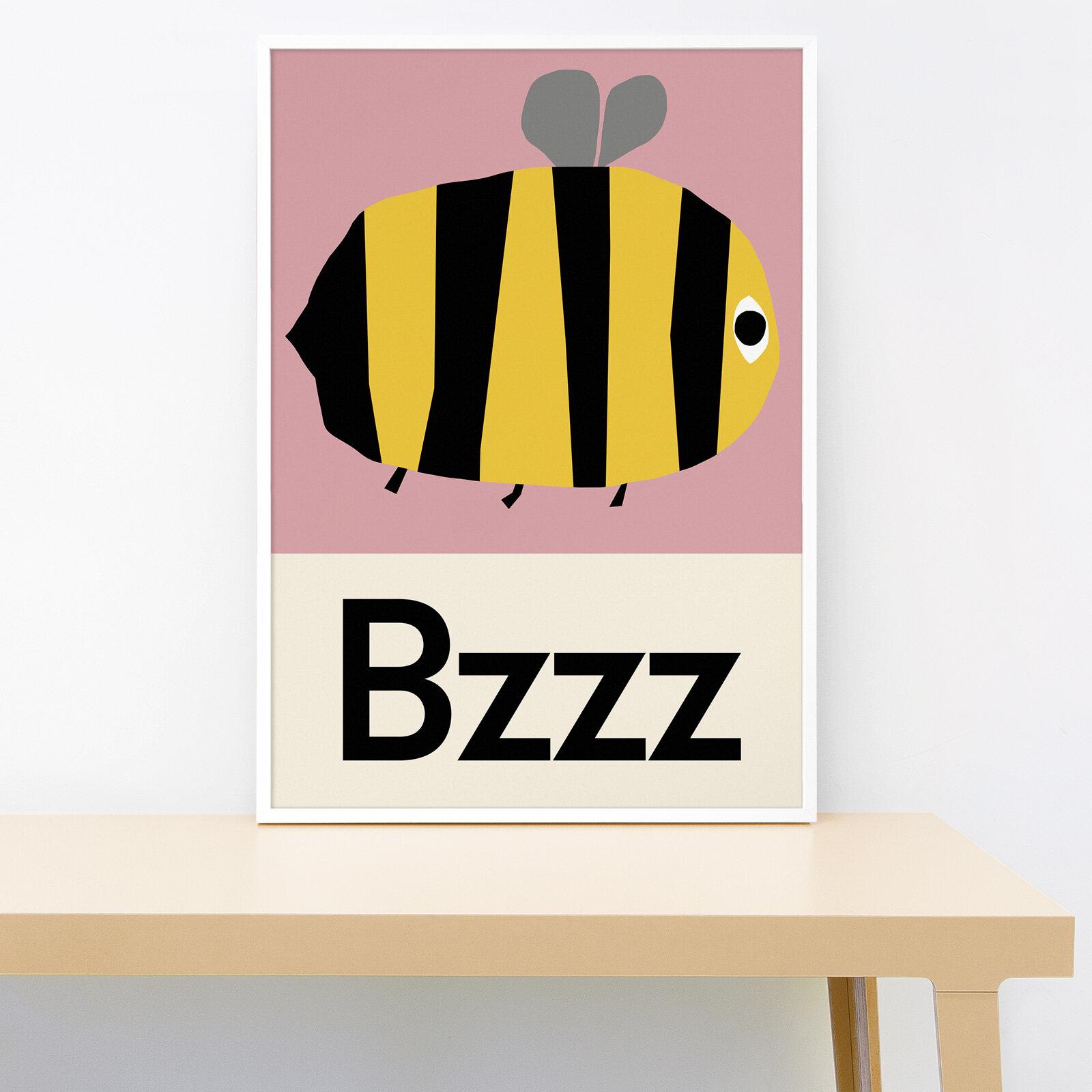 Lorna Freytag Bzzz Bee Print