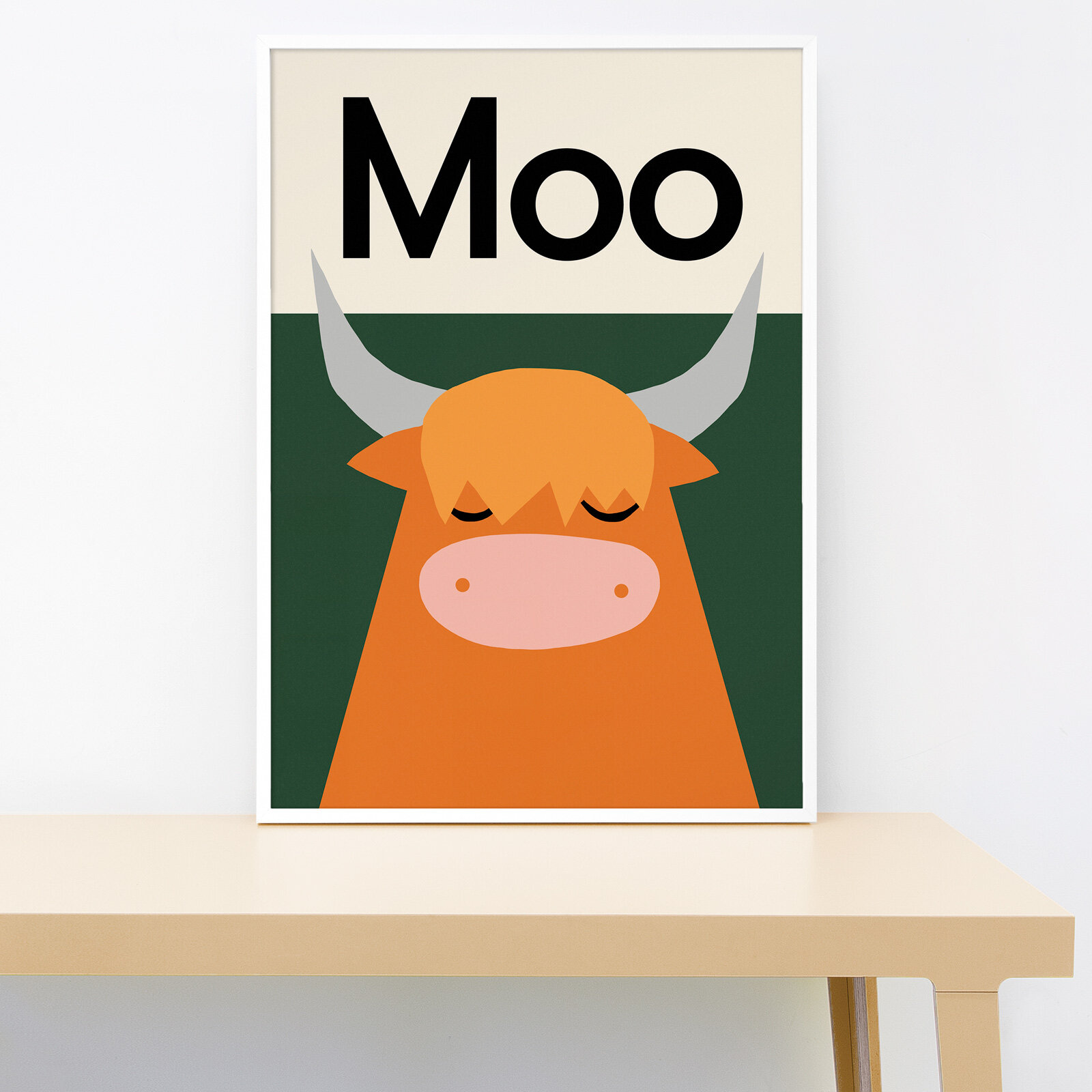 Lorna Freytag Moo Highland Cow Print