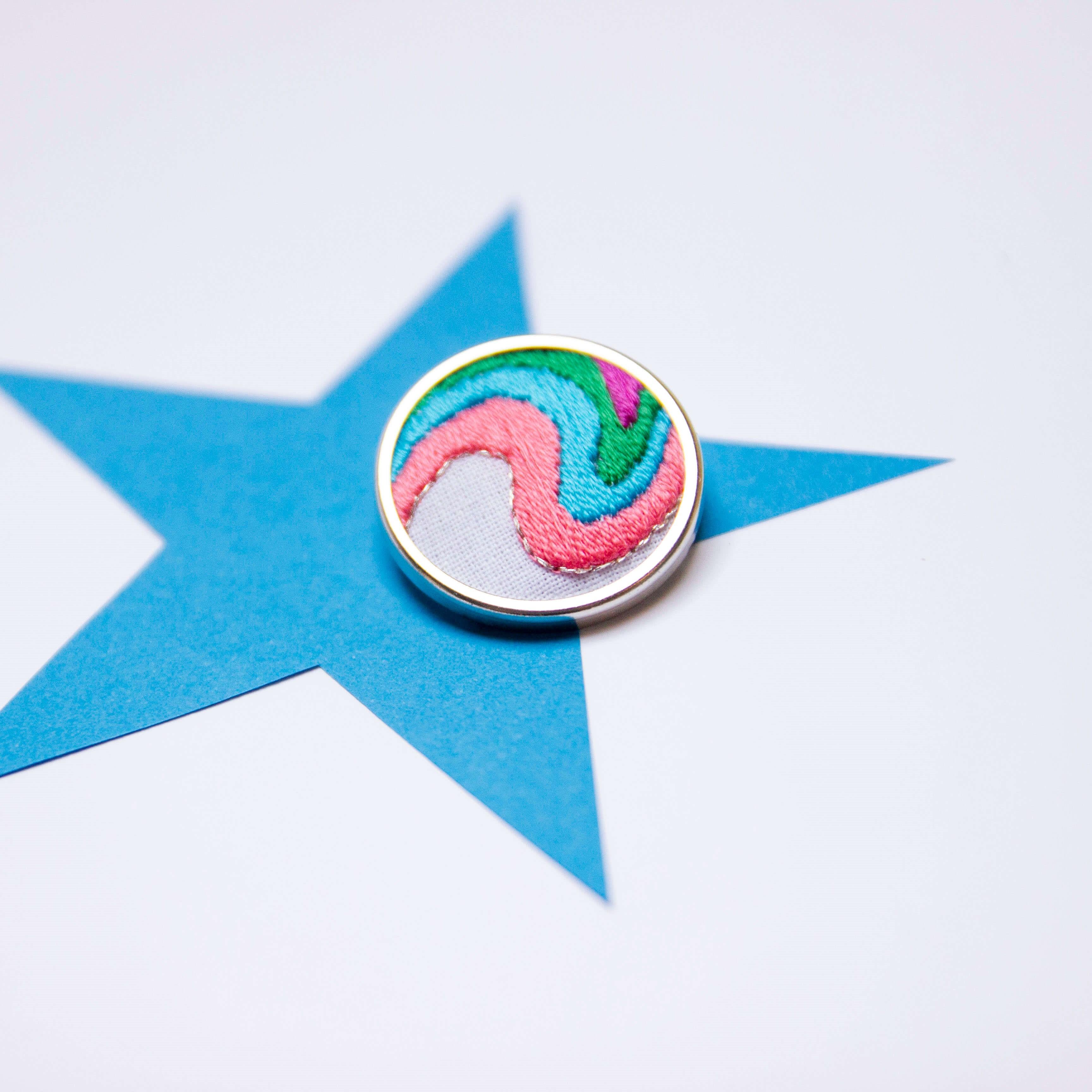 Lauren Smith Embroidery Pin - Boogie Wonderland