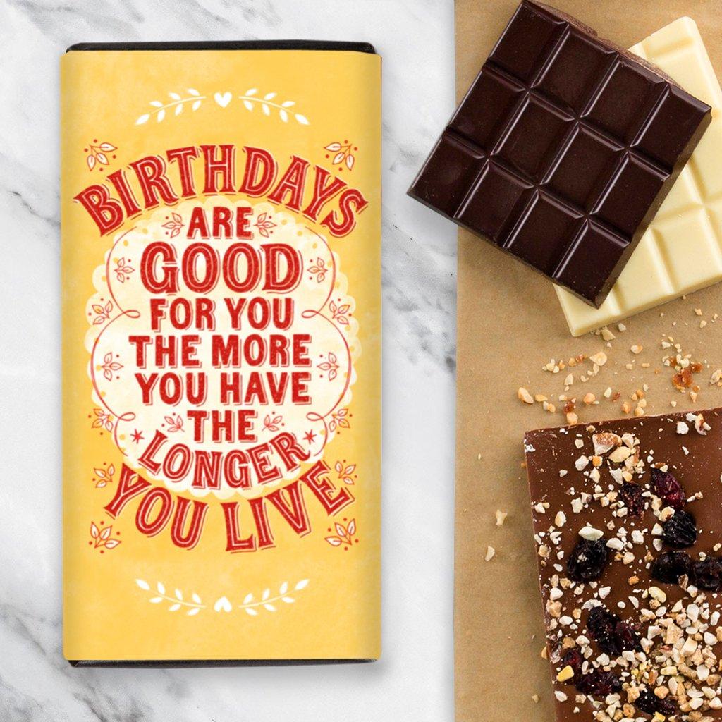 Quirky Chocolate Birthdays are Good - Milk Chocolate Bar