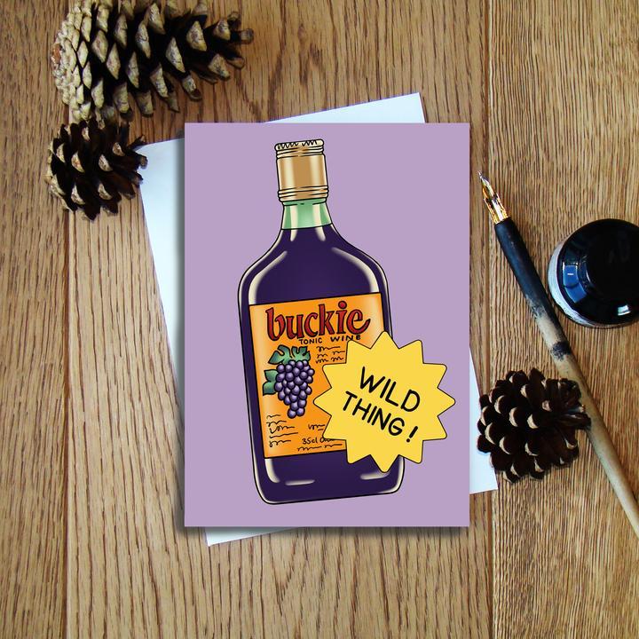 Cheryl Jones Designs Wild Thing (Buckie) Greeting Card