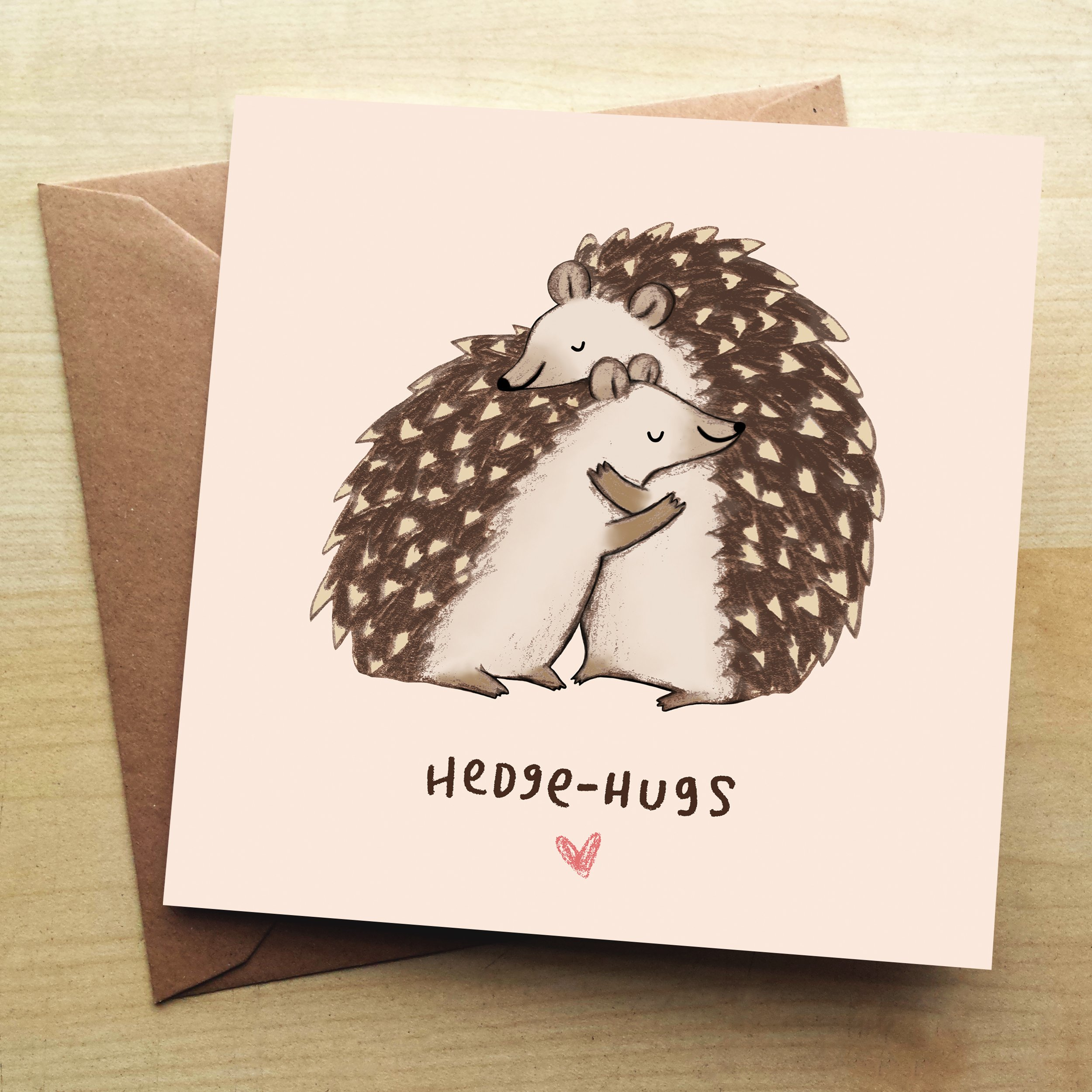 Wraptious Greeting Card - Hedgehugs