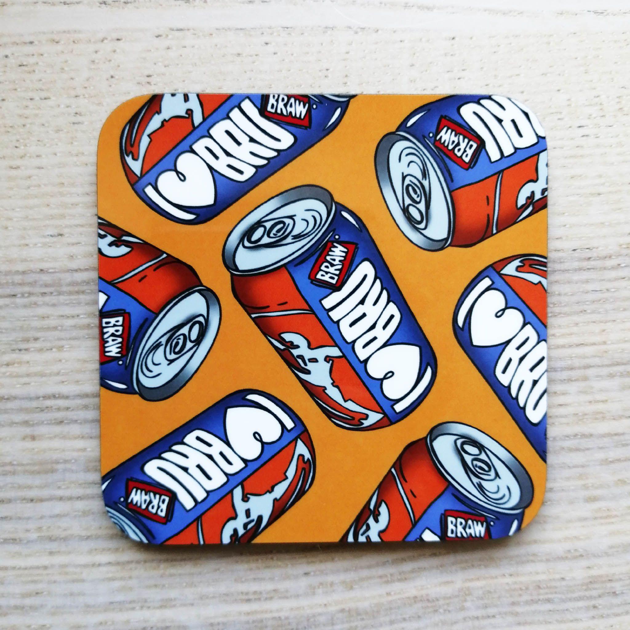 Cheryl Jones Designs I Love Bru Coaster
