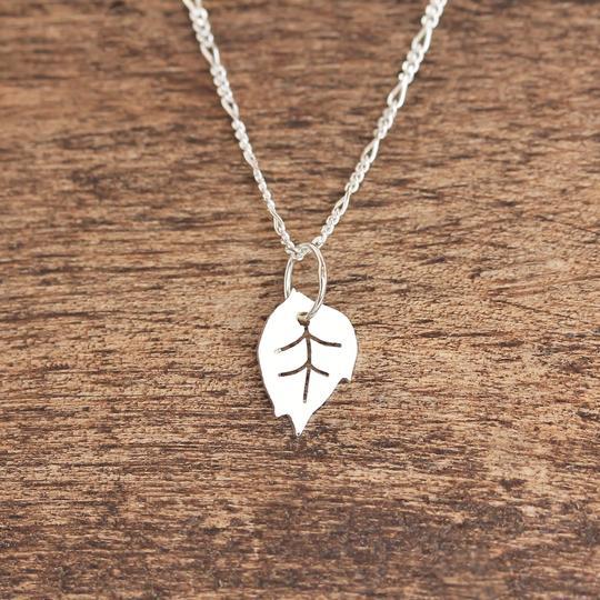 Tiny Beech Leaf Necklace