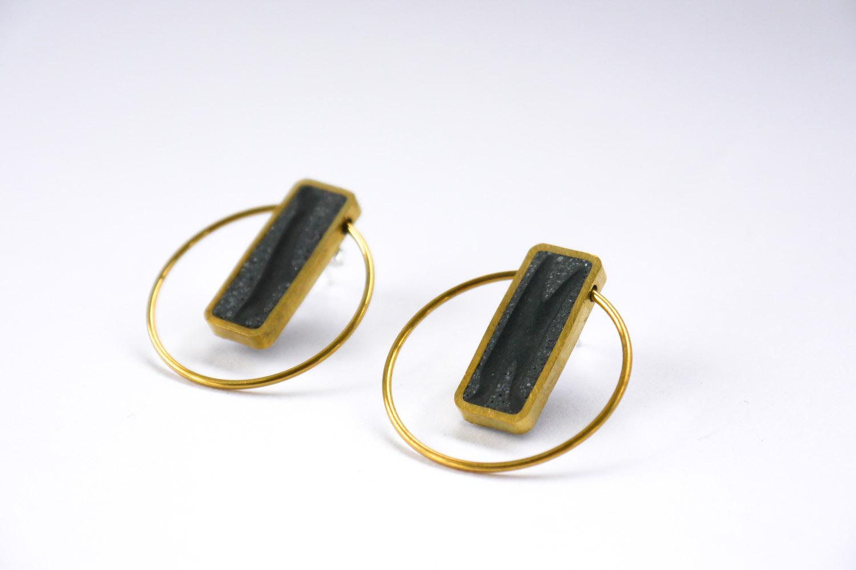 Lia b Atenea Black Earrings