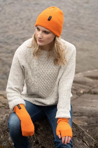 Island Nation Studio Ribbed Wrist Warmer - Bright Orange