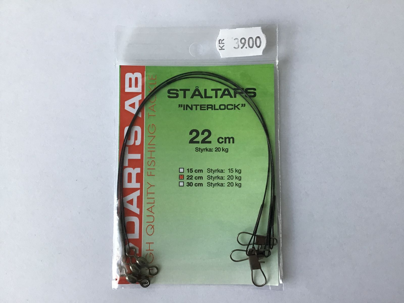 Darts ståltafs interlock 22cm