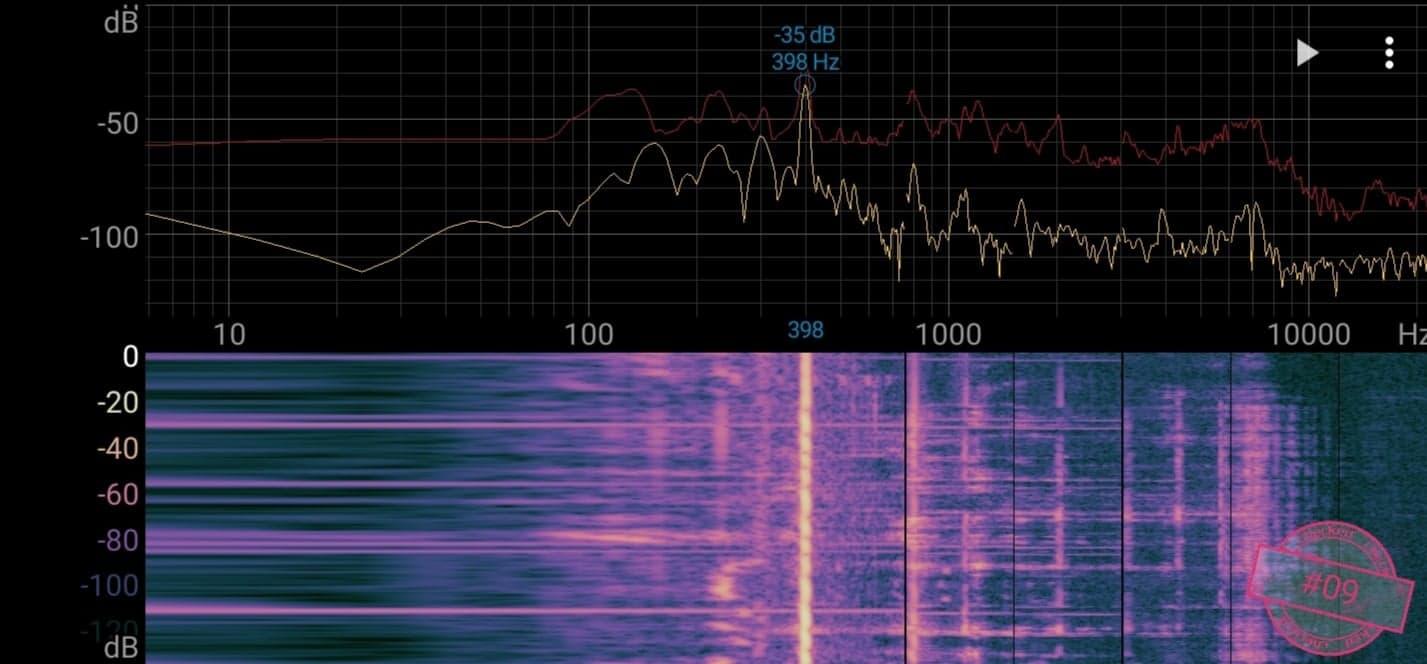 Singskål #09,  398 hertz, 13,5 cm,  513 gr