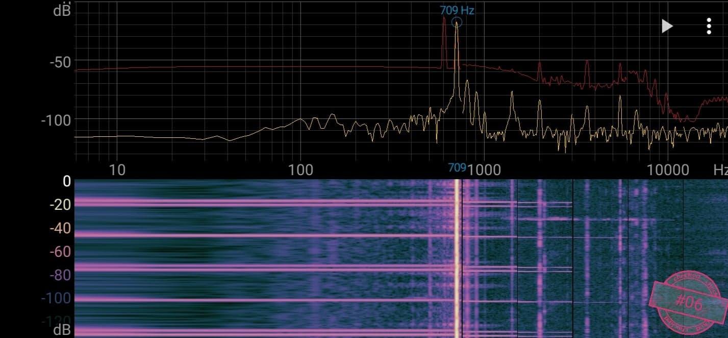 Singskål #06,  709 hertz,  12,8 cm,  675 gr