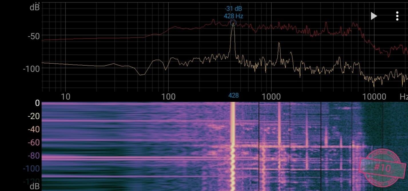 Singskål #10, 428 hertz, 13,5 cm,  476 gr