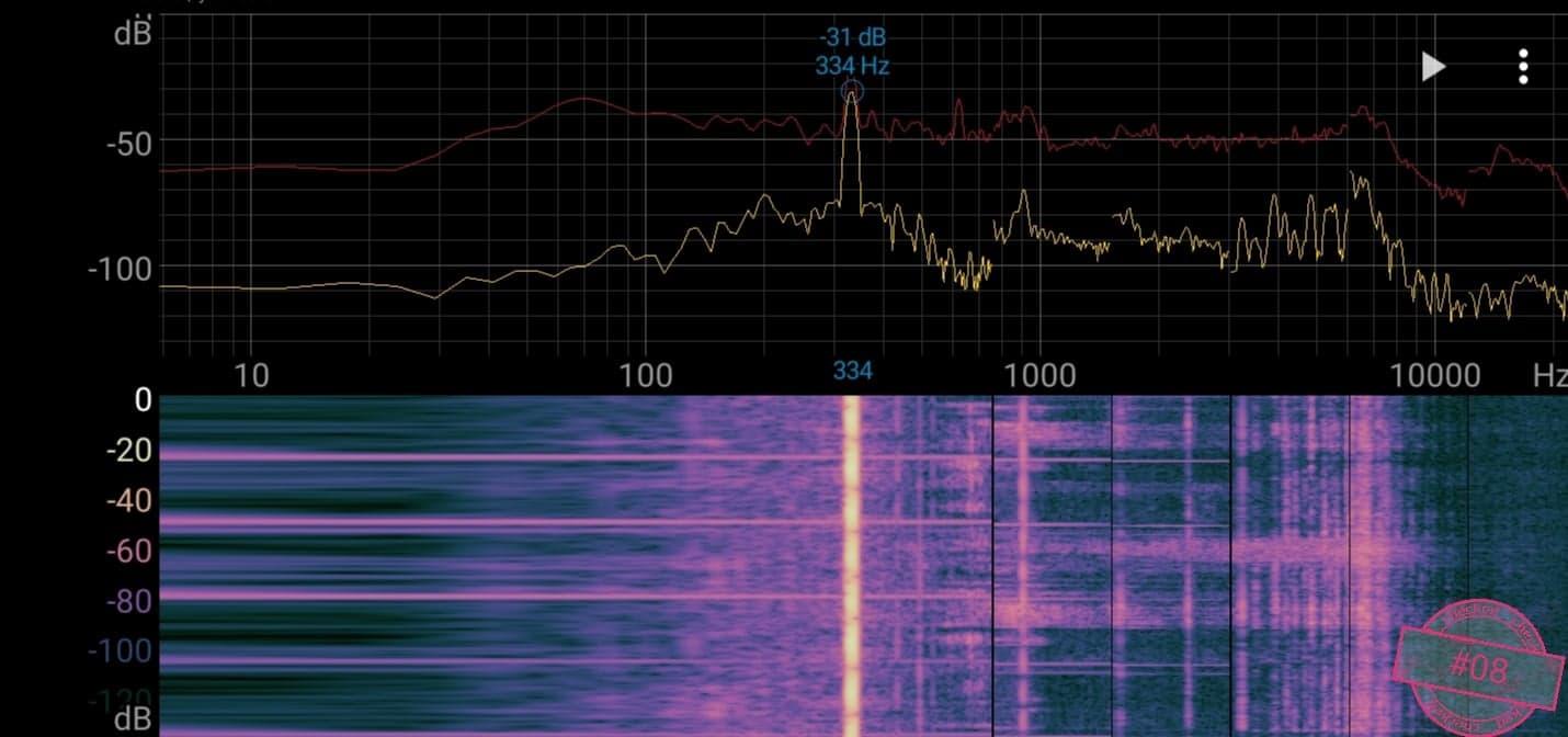 Singskål #08,  334 hertz, 19 cm,  1371 gr