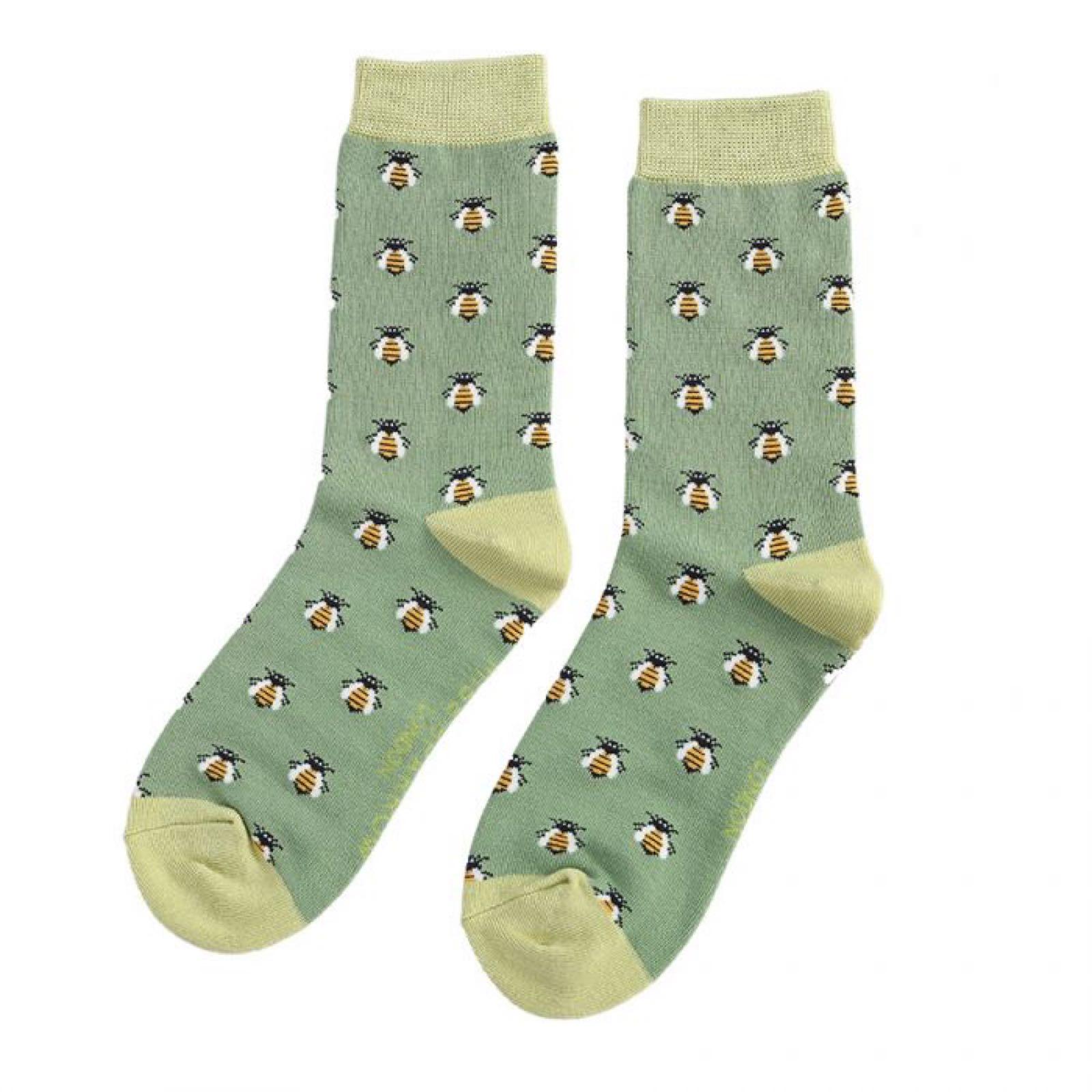 Green Bee Socks